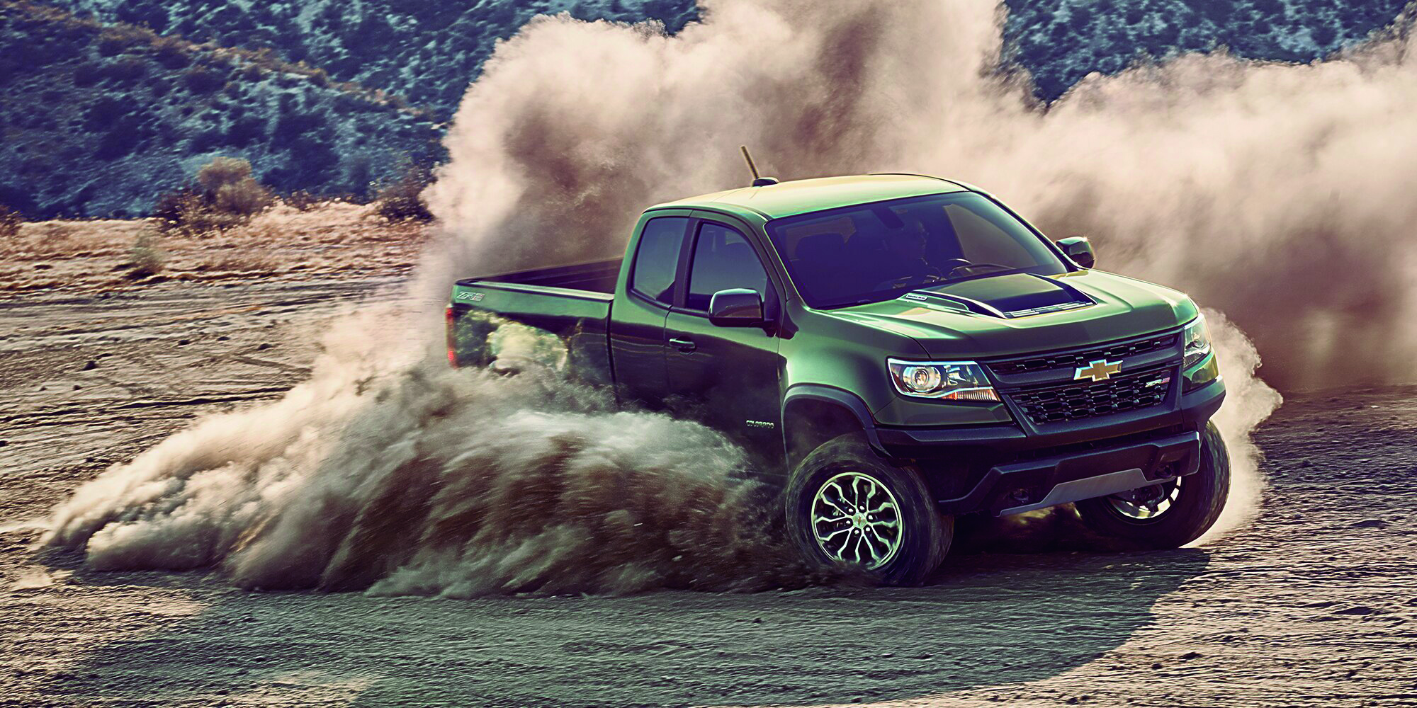 The Chevrolet Colorado 2017 Model During Off Road Desert Trials European Security Defence
