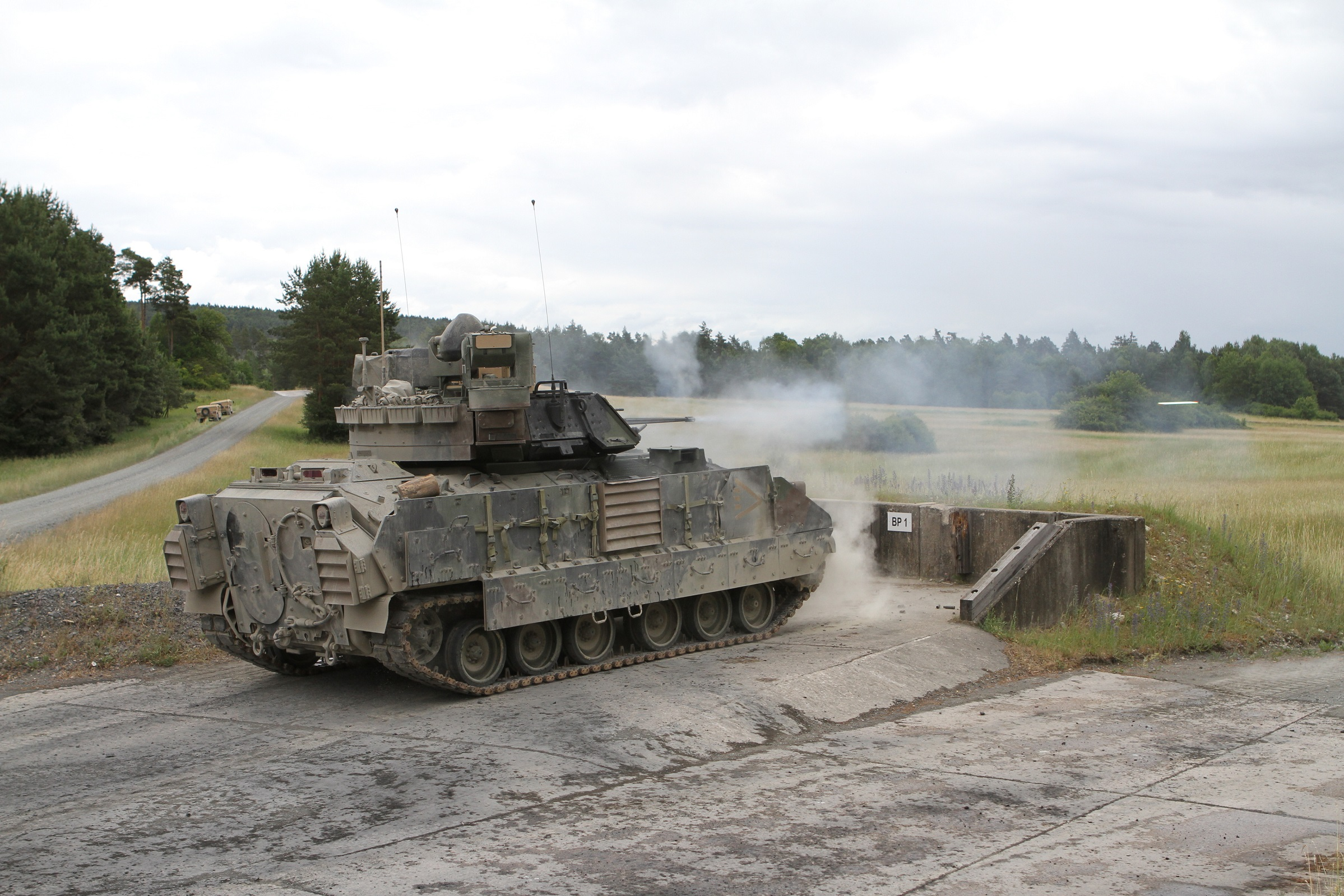 US Military News • US Army Bradley's Conduct Live Fire in Croatia • May 20, 2021
